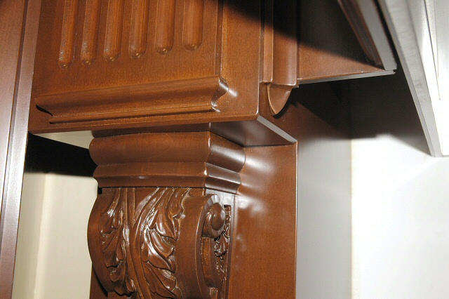 Corbel and Fluted Column